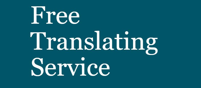 """Featured image for """"Free Translation Service"""""""