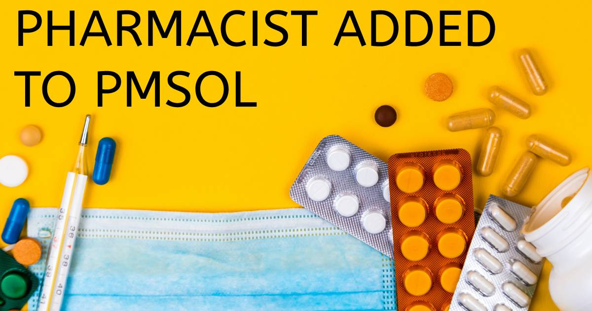 """Featured image for """"Pharmacist Added to PMSOL"""""""