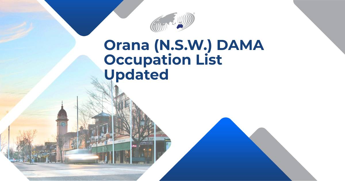 """Featured image for """"Orana (N.S.W.) DAMA Occupation List Updated"""""""